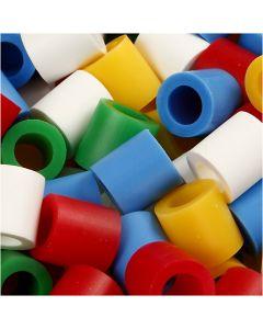 Putkihelmet, koko 10x10 mm, aukon koko 5,5 mm, JUMBO, perusvärilajitelma, 1000 laj/ 1 pkk