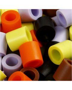 Putkihelmet, koko 10x10 mm, aukon koko 5,5 mm, JUMBO, syysvärit, 3200 laj/ 1 pkk