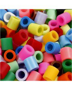 Putkihelmet, koko 10x10 mm, aukon koko 5,5 mm, JUMBO, Lisävärit, 550 laj/ 1 pkk
