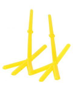 Tipun jalat, Kork. 28 mm, Pit. 37 mm, keltainen, 50 kpl/ 1 pkk