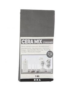 Cera-Mix Standard kipsijauhe, vaaleanharmaa, 1 kg
