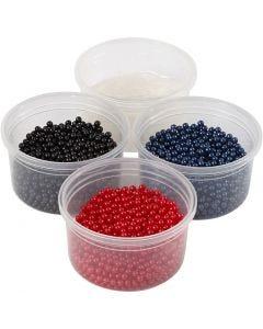 Pearl Clay®, musta, sininen, punainen, 1 set