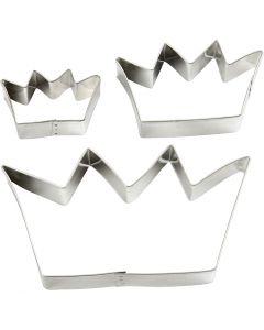 Metallimuotit, kruunut, koko 13,3x7,5 cm, 3 kpl/ 1 pkk