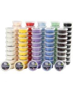 Silk Clay® silkkimassa, värilajitelma, 10x10 tb/ 1 pkk