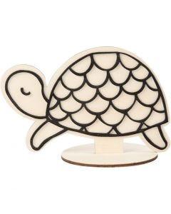 Koristehahmo, Kilpikonna, Kork. 10 cm, 1 kpl