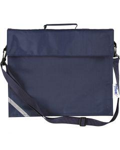 Koululaukku, syvyys 6 cm, koko 36x31 cm, tummansininen, 1 kpl
