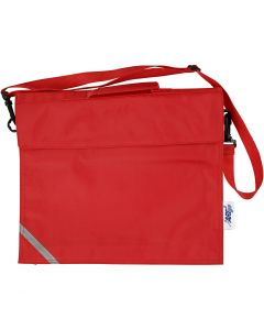 Koululaukku, syvyys 6 cm, koko 36x31 cm, punainen, 1 kpl