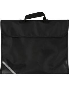 Koululaukku, syvyys 9 cm, koko 36x29 cm, musta, 1 kpl