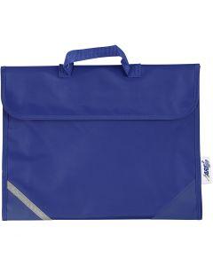Koululaukku, syvyys 9 cm, koko 36x29 cm, sininen, 1 kpl