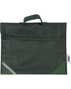 Koululaukku, syvyys 9 cm, koko 36x29 cm, vihreä, 1 kpl