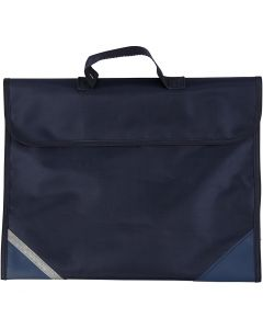 Koululaukku, syvyys 9 cm, koko 36x29 cm, tummansininen, 1 kpl