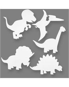 Kartonkidinot, Kork. 15-22 cm, Lev: 24-25 cm, 230 g, valkoinen, 16 kpl/ 1 pkk