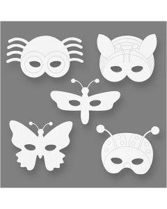 Hyönteisnaamiot, Kork. 14-17 cm, Lev: 19,5-23 cm, 230 g, valkoinen, 16 kpl/ 1 pkk