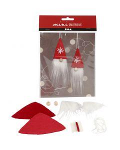 Luova minipakkaus, Roikkuva joulutonttu, Kork. 11 cm, 1 set
