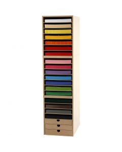 Kartongit ja säilytyslokerikot, Kork. 100 cm, A4, 210x297 mm, 180 g, värilajitelma, 1 set