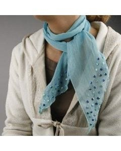 Crinckle chiffon scarf