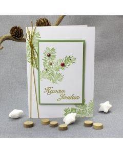 Kuusenoksa kortissa
