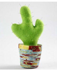 Kaktus paperiruukussa