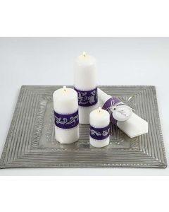 Koristellut kynttilät
