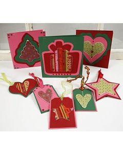 Huopaa joulu- ja pakettikorteissa