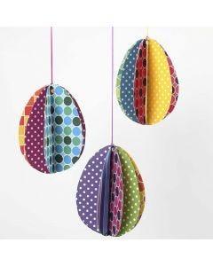Colorbar-kartongista tehdyt munat
