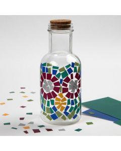 Lasipullo koristeltu Color Decorilla