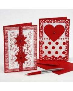 Joulukortteja käsintehdyistä papereista