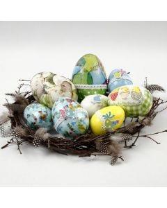 Serviettikoristellut pääsiäismunat