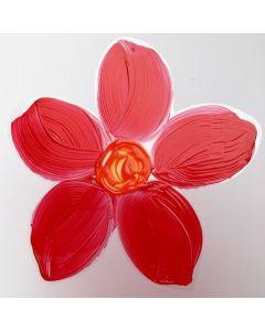 Kukka maalattu voimakalvolle