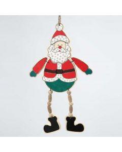 Ripustettava puinen joulupukki