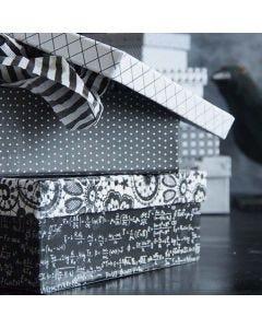 Paris Design-paperilla päällystetty rasia