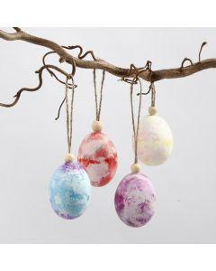 Kreppipaperilla värjätyt munat