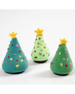 Joulukuuset silkkimassasta