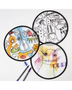 Tekstiilitusseilla koristeltu frisbee