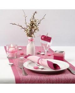 Pinkki/rosa pöytäkattaus