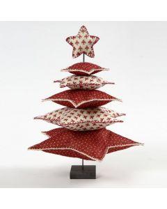 Joulukuusi huopatähdistä