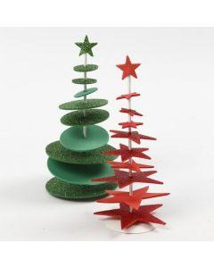 Joulukuuset softiksesta ja metallijalustasta