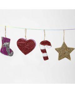 Kimaltelevat joulukoristeet