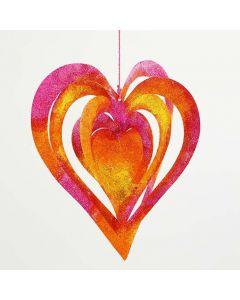 3D sydän koriste