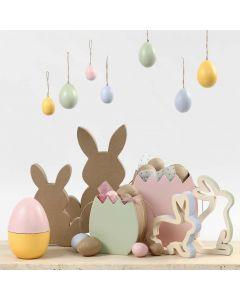 Pastellisävyiset pääsiäiskoristeet