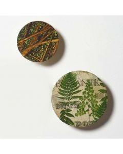 Decoupagella koristeltu ripustuskoukku