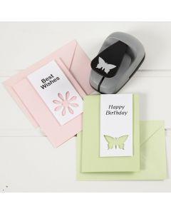 Kuviolävistäjällä koristeltu kortti