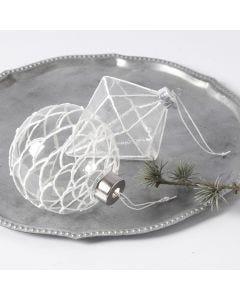 3D- lumimassalla koristellut lasikoristeet