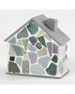 Mosaiikilla koristelu puutalo