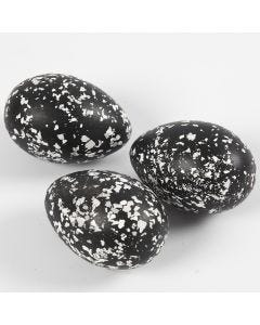 Terrazzo-hiutaleilla koristellut munat