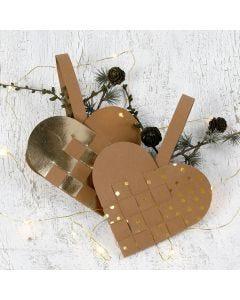 Punottu joulusydän nahkapaperista