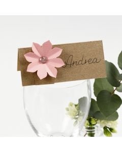 Paikkakortti kukkakoristeella