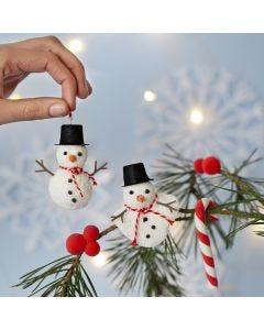 Ripustettavat lumiukot ja karkkikepit