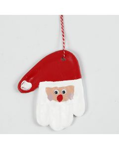 Kämmenen muotoinen joulupukki itsekovettuvasta savesta