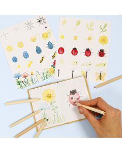 Opi piirtämään hyönteisiä ja kukkia